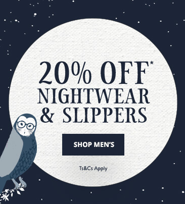 UK - A - 20% Off Men's Nightwear