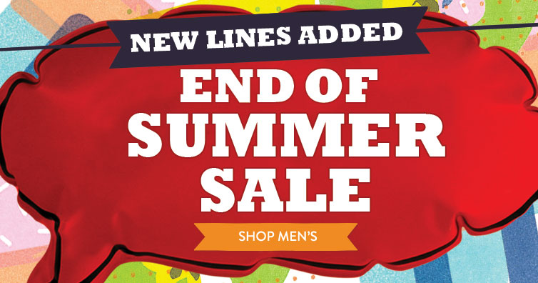 LATE SUMMER SALE
