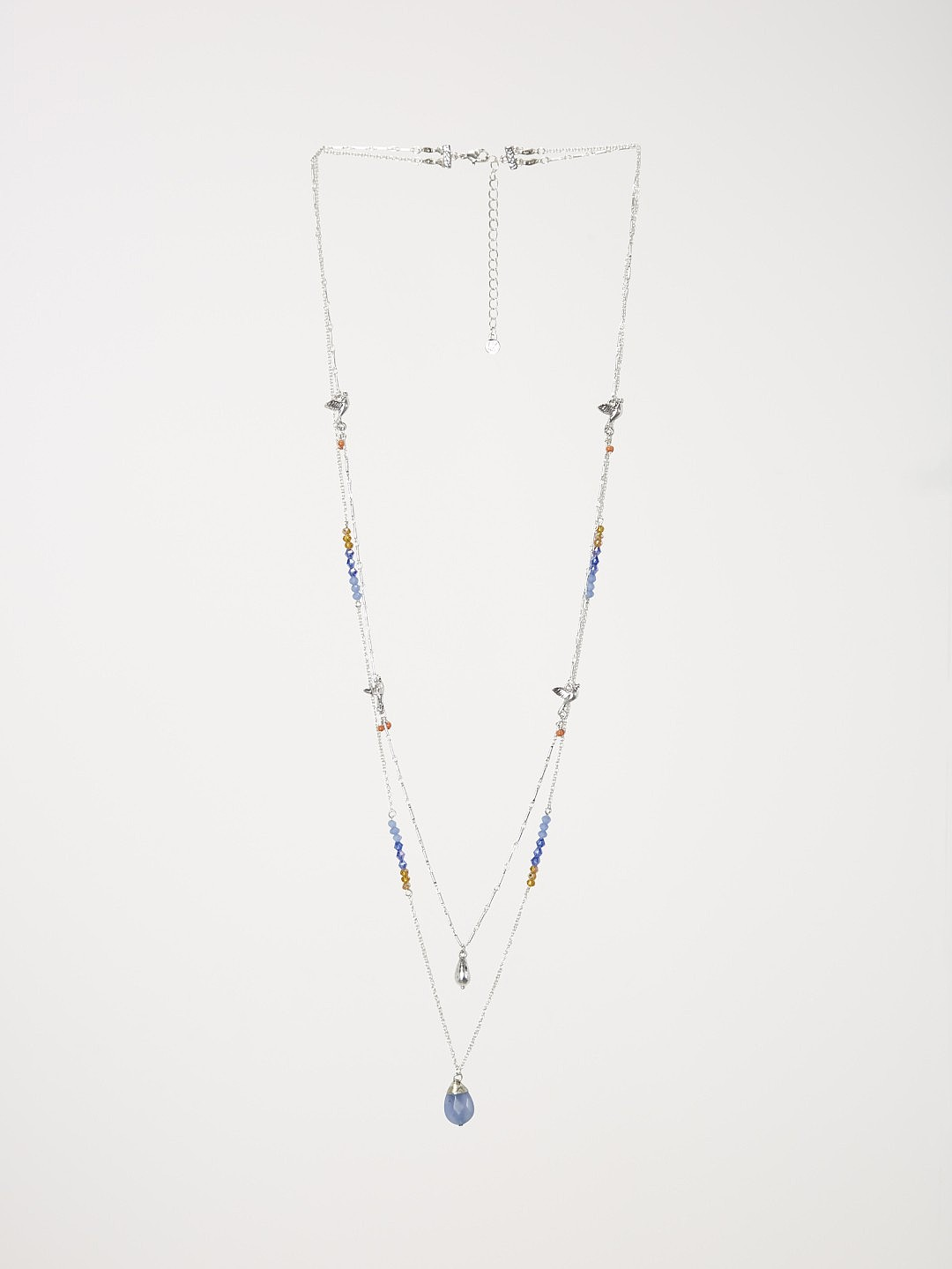 Dbl row nectar bead necklace