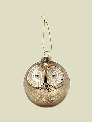 1GB BARN OWL BAUBLE